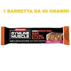 ENERVIT GYMLINE MUSCLE HIGH PROTEIN BAR 50% 1 BARRETTA DA 60 GRAMMI Barrette Proteiche e Energetiche