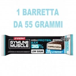 ENERVIT GYMLINE MUSCLE HIGH PROTEIN BAR 36% 1 BARRETTA DA 55 GRAMMI Barrette Proteiche e Energetiche