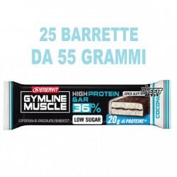 ENERVIT GYMLINE MUSCLE HIGH PROTEIN BAR 36% 25 BARRETTE DA 55 G Barrette Proteiche e Energetiche