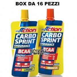 PROACTION CARBO SPRINT BCAA 16 PEZZI DA 50 ML Carbogel