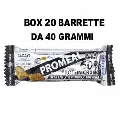 Promeal Protein Crunch 60% 20 barrette proteiche da 40 grammi  Barrette Proteiche e Energetiche