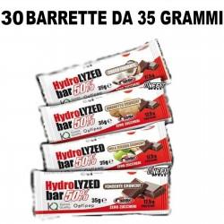 PRONUTRITION HYDROLYZED BAR 50% PROTEINE ZERO ZUCCHERI 30 BARRETTE DA 35 GRAMMI  Barrette Proteiche e Energetiche