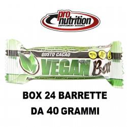 PRONUTRITION VEGAN BAR – 24 BARRETTE VEGANE  Barrette Proteiche e Energetiche