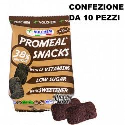 VOLCHEM PROMEAL 10 X PROTEIN SNACKS 38% ( snack proteico ) a basso tenore di zuccheri, arricchito con proteine e vitamin Bisc...