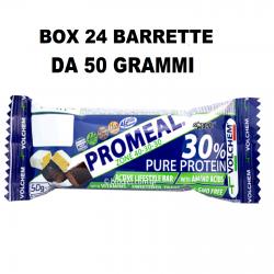 Volchem Promeal DietaZona 40-30-30 barretta proteica 24 x 50gr Pasto Sostitutivo  Barrette Proteiche e Energetiche